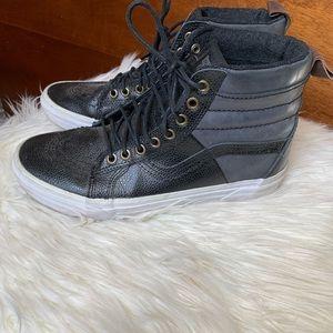Vans Black Leather MTE Hi-top Sneakers